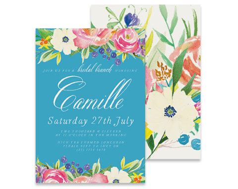 Aqua Bridal Shower Invitation