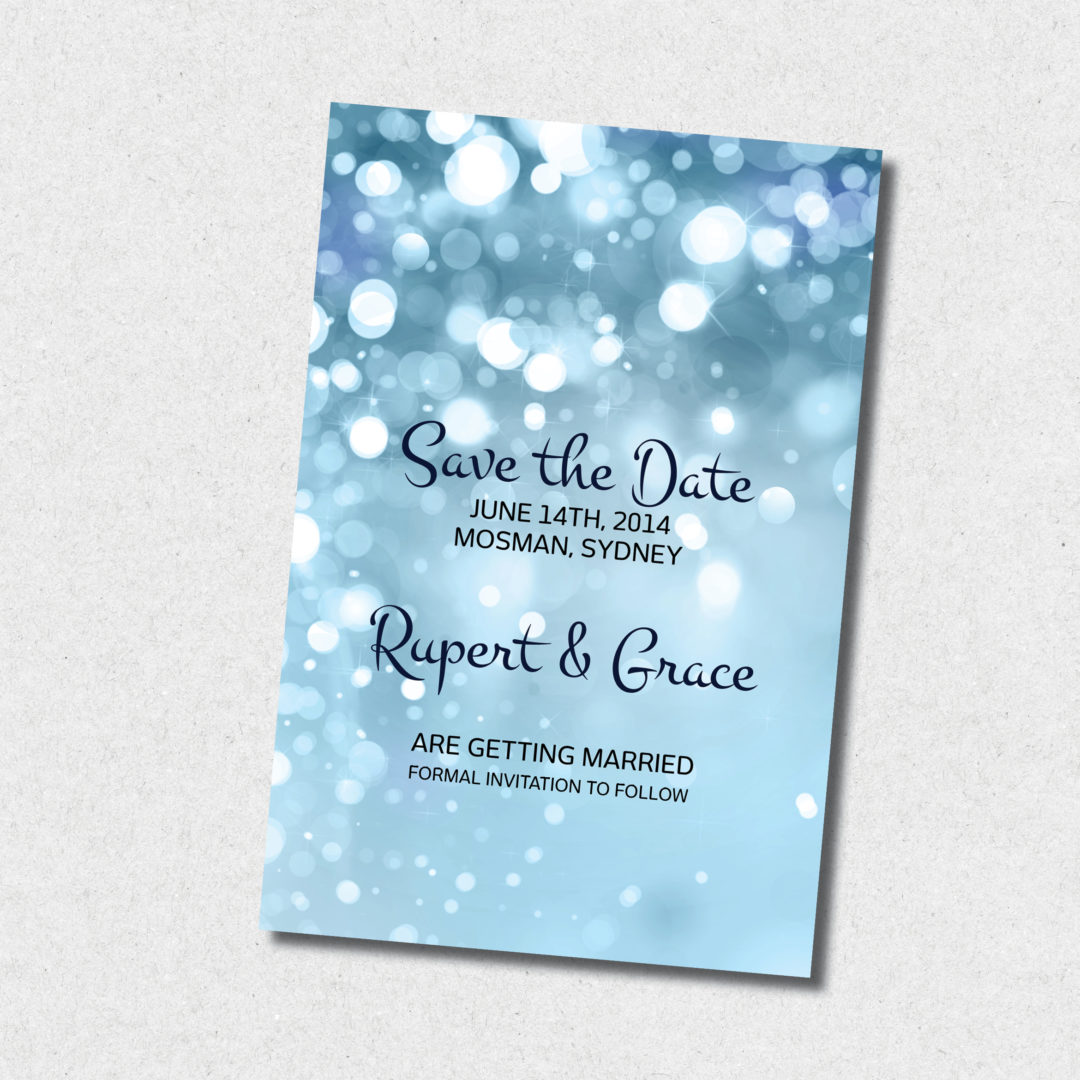 sparkles save the date
