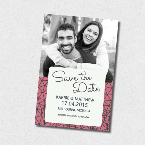 all about you save the date invitation