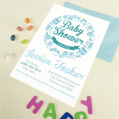 baby things baby shower invitation